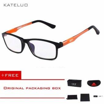 KATELUO 2016 New Brand Reading Glasses Men Woman Computer UV Glasses Fatigue Radiation eyeglasses Myopia Frame Black White Bule 13022Orange Buy 1 Get 1 ...