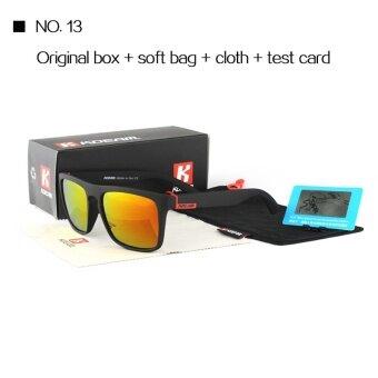 1a714d6e55c ราคา KDEAM Good quality Polarized Sunglasses Men Square Summer Sun Glasses  Polaroid lens Women Brand Designer