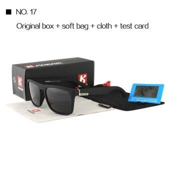 KDEAM Good quality Polarized Sunglasses Men Square Summer Sun Glasses Polaroid lens Women Brand Designer 6 Colors With case 2016 156 – intl