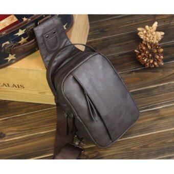 Kenbo J4 กระเป๋าสะพายข้าง กระเป๋าคาดบ่า กระเป๋าคาดไหล่ กระเป๋าคาดอกกระเป๋าสะพาย กระเป๋าลำลอง กระเป๋า Sholder bag men สีน้ำตาลเข้ม darkBrown