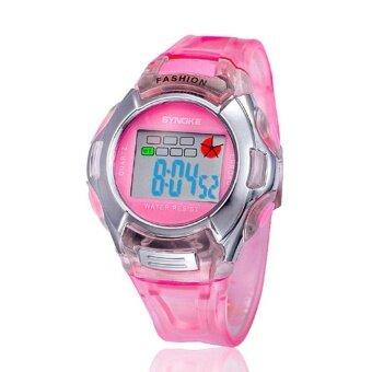 Kids Sports Digital LED Watches Wrist Watch Alarm Date Rubber Wrist PK - intl
