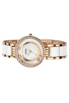 Kimio นาฬิกาข้อมือผู้หญิง สาย Alloy รุ่น K485 - สีขาว/ทอง ดีไหม