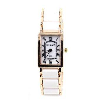 King Girl นาฬิกาข้อมือผู้หญิง - WP8150 (White/ Rose Gold)