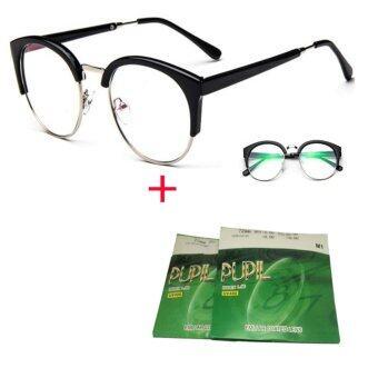 กรอบแว่นตา+ เลนส์มัลตืโค๊ต(0.00ถึง-4.00)กันแสงuv400ป้องกันคลื่นสนามแม่เหล็กจากหน้าจอคอม