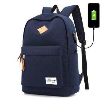 กระเป๋าสะพายหลัง กระเป๋าเป้เดินทาง กระเป๋าเป้ผู้ชาย กระเป๋าโน๊ตบุ๊ค กระเป๋าเป้เท่ๆ มีช่อง USB ชาร์จโทรศัพท์มือถือ