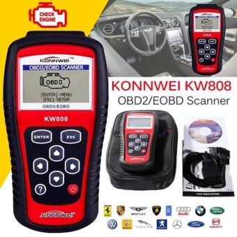 KW808 OBDII จอแอลซีดี OBD2 / EOBDรถยนต์วินิจฉัยอัตโนมัติรหัสเครื่องสแกนเนอร์ เครื่องมือทดสอบ