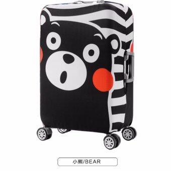 ผ้าคลุมกระเป๋าเดินทาง หมีคุมะมง ไซด์ L ขนาด 26-28 นิ้ว