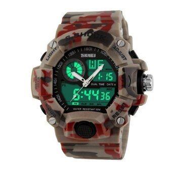 LED Digital Military Watch Fashion Outdoor WristwatchesWaterproofdigital-watch(Multicolor) - intl