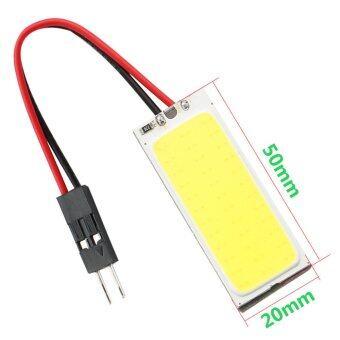 ไฟห้องโดยสาร LED แบบแผง SMD 36 ดวง แสงสีขาว พร้อมขั้ว T10และขั้วสปริงปรับขนาดได้