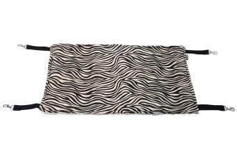 Leegoal กรงสัตว์เลี้ยงแมวคิตตี้ผ้าเปลญวนแขวนเตียง-รูปแบบลายม้าลาย