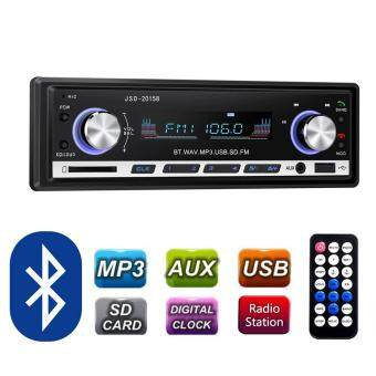 leegoal Bluetooth Car Stereo Receivers 60W Single Din AudioReceiver Support MP3 Player/FM Radio USB/SD/AUX - intl