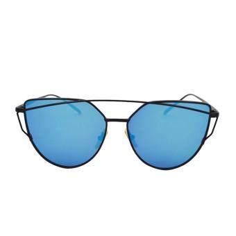 leegoal Fashion Women Sunglasses Sunscreen Anti-UV Color FilmSunglasses , Black And Blue - intl ...