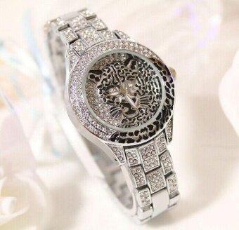 อยากขาย Leopard Watch Quartz Watch BS Brand Watch Luxury Lady Leopard Dress Watch Women Full Crystal Gold Bangle Bracelet Bead Charm