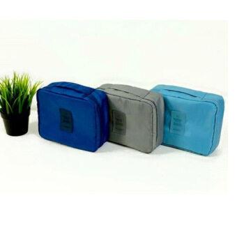 รีวิว Let's Travelกระเป๋าจัดระเบียบ กระเป๋าเครื่องสำอางค์ และของใช้ต่างขนาด20x14x6ซม สีเทา