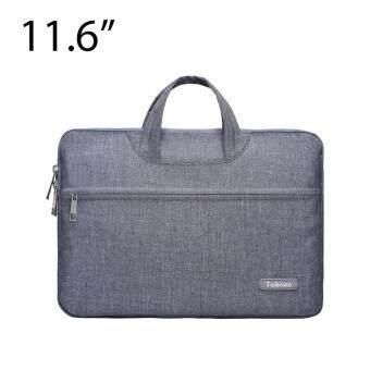 โปรโมชั่นพิเศษ Lichto กระเป๋าถือ กระเป๋าใส่โน๊ตบุ๊ค Laptop กระเป๋าใส่เอกสาร ขนาด 11/11.6 นิ้ว Apple Macbook 12 นิ้ว สีเทาเข้ม