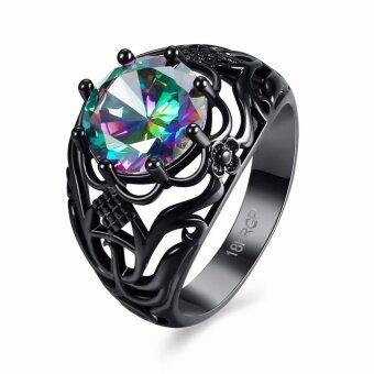LKN18KRGPR874 Fashion Women's Multi-color Ring Size 8
