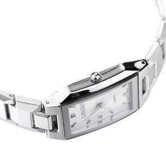 LONGBO 867 Amps คนรักกีฬาสีผสมรัดนาฬิกาควอทซ์ธุรกิจนาฬิกาข้อมือขาว (image 4)