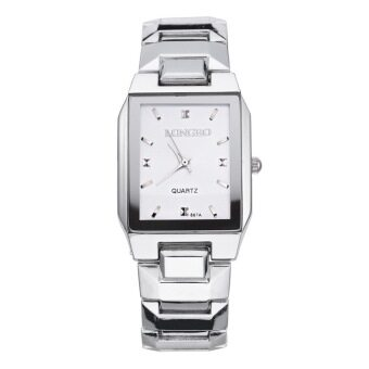 LONGBO 867 Amps คนรักกีฬาสีผสมรัดนาฬิกาควอทซ์ธุรกิจนาฬิกาข้อมือขาว (image 1)