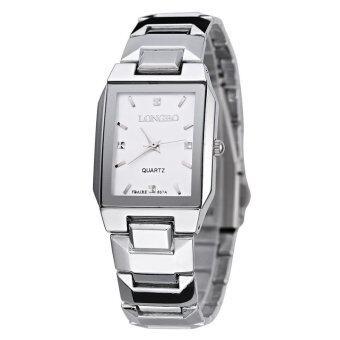 LONGBO 867 Amps คนรักกีฬาสีผสมรัดนาฬิกาควอทซ์ธุรกิจนาฬิกาข้อมือขาว