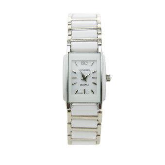 ซื้อ/ขาย LONGBO นาฬิกาข้อมือผู้หญิง สีขาว สายพลาสติก รุ่น LOB8145