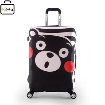 Luggage Cover ผ้าคลุมกระเป๋าลายหมีคุมะมง Kumamon Size S 19-21\ Cover (Black)