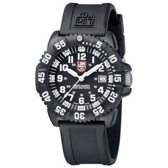 Luminox Navy SEAL COLORMARK 3050 Series นาฬิกาข้อมือผู้ชาย สีดำ สายเรซิ่นรุ่นA.3051