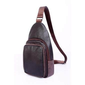 เปรียบเทียบราคา M1 กระเป๋าสะพายไหล่ กระเป๋าคาดไหล่ คาดอก กระเป๋าคาดบ่า หนังเกรดPremium Shoulder Bag สีดำ (Black)
