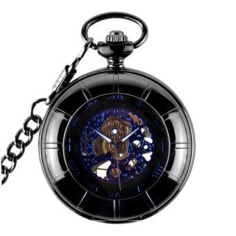 MagiDeal Mens Vintage Steampunk Mechanical Pocket Watch