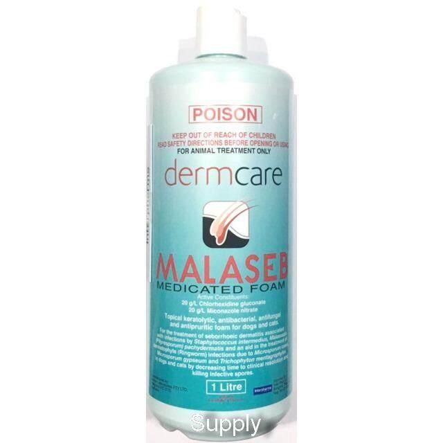 ขายดีมาก! MALASEB 1000 ml  มาลาเซ็บ กำจัดเชื้อรา แบคทีเรีย ผิวอักเสบ ลอก ตกสะเก็ด รังแค มีกลิ่นตัว สุนัข-แมว (Exp: 02/2020 ) +ส่ง KERRY+