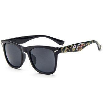 Man style Sunglasses แว่นตากันแดด รุ่น 15929 C01(Grey/Black)