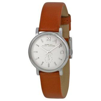 ประเทศไทย Marc by Marc Jacobs Women s MBM1270 Baker Stainless Steel Watch with Brown Leather Band