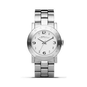 ราคา Marc Jacobs Amy Crystal Silver Bracelet Watch MBM3181