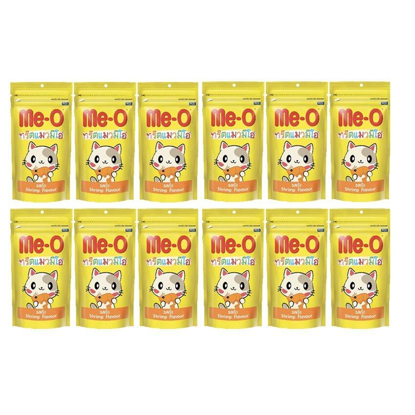 Me-o Cat Treat Shrimp Flavor ขนมแมว มีโอ รสกุ้ง50g x 12 packs (8850477012400-12)