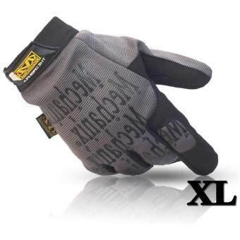 ถุงมือ มอเตอร์ไซค์ จักรยาน เต็มนิ้ว Mechanix Wear M-Pact Outdoorsport Size XL สี Grey