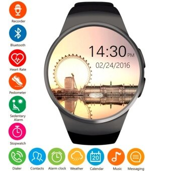 ราคา MEGA Fashion Smart Watch with Bluetooth and Heart Rate Monitor รุ่น SM0063 (Black)