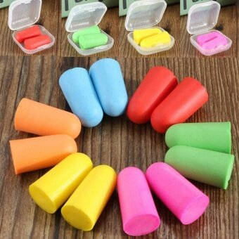 Memory Foam Soft Ear Plugs Sleep Work Travel Earplugs Noise Reducer- intl