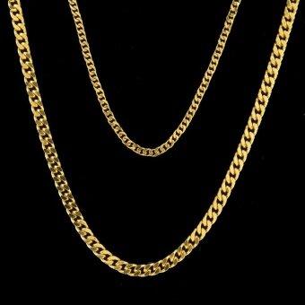 Men hip hop style popular necklace 5mm * 70cm - intl - 2