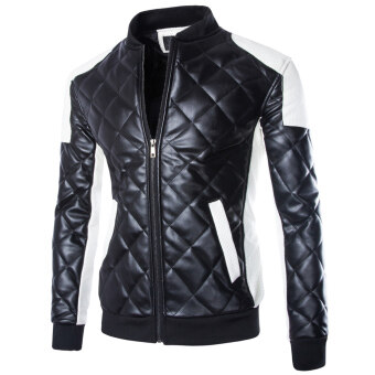 Men's motorcycle jackets coat Black