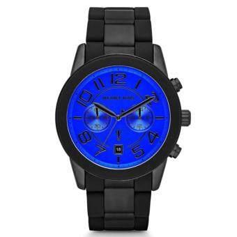 ซื้อ/ขาย Michael Kors Mens Mercer Black Tone Stainless Steel Bracelet Blue Face Chronograph Watch MK8326