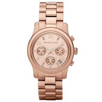 ซื้อ/ขาย Michael Kors นาฬิกาผู้หญิง Michael Kors Runway Chronograph รุ่น 5128 (สีโรสโกลด์)