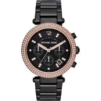 ซื้อ/ขาย Michael Kors Parker Chronograph Black Dial Black Ion-plated Ladies MK5885