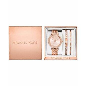 Michael Kors Women's MK3192 Gift Set DARCI WATCH + 2 BRACELETS