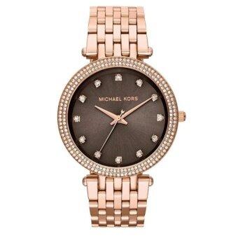 ประเทศไทย Michael Kors Women s Darci Rose Gold Glitz Bracelet Watch MK3217