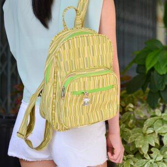 MilesKeeper mini backpack PVC leather กระเป๋าเป้สะพายหลัง รุ่น 202\n- Green
