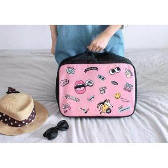 Mini travel luggage กระเป๋าเสริมสำหรับเดินทางขนาดพกพา ( สีชมพู )