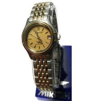 ราคา Miragh นาฬิกาข้อมือหญิง เรือนทอง สาย 2 กษัติ มีวันที่ รุ่น L11045AG(ทอง/เงิน)