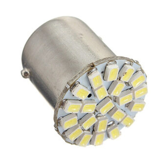 ซื้อ Moonar BA15S P21W 1156 22 LED 1206 SMD Car Auto Tail Side IndicatorLights Parking Lamp Bulb (White Light)