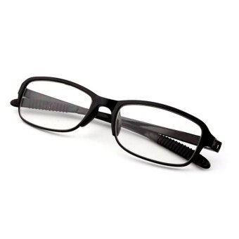 Moonar New TR90 Strength +2.00 Women Men Flexible Readers StrengthPresbyopic Reading Glasses ( Black ) - intl