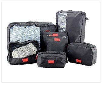 Mori กระเป๋าจัดระเบียบเสื้อผ้าสำหรับเดินทาง กระเป๋าจัดระเบียบ เซ็ท 7 ใบ Bag Organizer Set 7 pcs (Black / สีดำ)