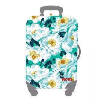 Mori ผ้าคลุมกระเป๋าเดินทาง ผ้ายืด Luggage cover Suitcase cover Spandex ลาย Early Spring Flower (Size L) สำหรับกระเป๋าเดินทางไซส์ 27-30 นิ้ว